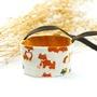 小牛村 Calf Village 手工雙面 環保飲料袋 吸水 咖啡提袋 可愛插畫 寵物 狗 柴犬 【柴柴郊遊日】米白【D-07】