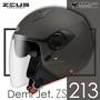 加贈鏡片 ZEUS安全帽 ZS-213 素色 消光黑銀 內鏡 內襯可拆 3/4罩 半罩帽 ZS213 耀瑪騎士機車部品