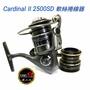 競工坊ABU Cardinal II 2500SD捲線器 鋁合金雙線杯,高品質平價的軟絲,路亞平衡雙把紡車式捲線器