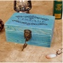zakka復古帶鎖木盒案頭收納盒儲物盒整理木盒做舊文具實木盒子