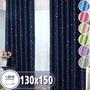 【小銅板-單層遮光窗簾】單片寬130*高150-2片入(遮光窗簾可穿伸縮桿 掛勾 兩用)