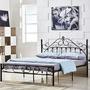 床架 歐式金屬環保時尚鐵藝公主床1.5鐵藝雙人床架1.8m單人鐵架床1.2米JD 傾城小鋪
