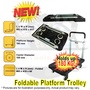 PLATFORM FOLDABLE TROLLEY HAND TRUCK / COMES FULLY ASSEMBLED / HOLDS UP TO 180 KG / FOLDS EASILY
