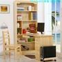 【勁爆價6A】實木電腦桌帶書架松木書桌臺式學習桌家用寫字臺兒童書桌書架組合