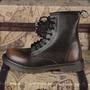 冬季高幫軍靴潮流復古靴子防水長筒登山鞋英倫皮靴男款馬丁靴X951