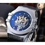【腕錶之家】美國直郵 Maserati 瑪莎拉蒂 玫瑰金 銀 POTENZA 機械錶 皮革 海神 大三叉男士手錶腕錶
