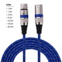 XLR 1-20M 3針公對母插頭麥克風線纜平衡音頻線麥克風線