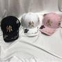 MLB 美國大聯盟 小雛菊小蜜蜂 NY立體刺繡LOGO 洋基棒球帽 彎簷鴨舌帽精品