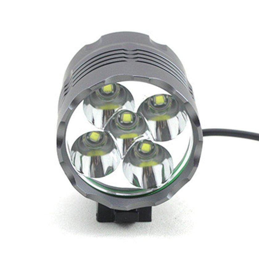 LALOVE XML T6 5 LED MTB Front Bicycle Light With Mount Charger Battery