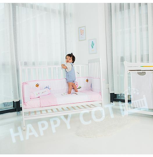 974758dfa1403 Happy Wonder+ 5-in-1 Convertible Baby Cot with FREE Mattress + Bedding
