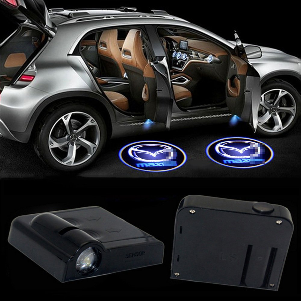 MIVISO 2019 2PCS Car Door Led Logo Projector Light Wireless Lamp Welcome Ghost Shadow Light Upgraded No Magnet