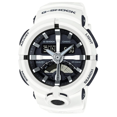 Casio G-shock Standard Analog-Digital Resin Strap GA-500-7A White
