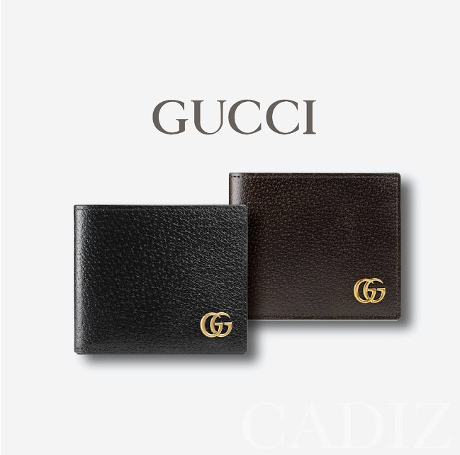 d875e4d6d77 義大利正品GUCCI GG Marmont leather bi-fold wallet黑深棕色折疊皮