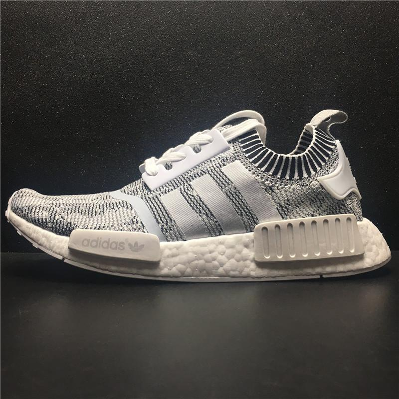 Adidas NMD R1 PK Oreo White Black Glitch Camo BY1911 Men s Running Shoe e2eb2b4f2b5