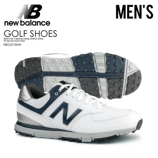 4064dcff3fa04 沒有NEW BALANCE(紐巴倫)NBG574 SPIKELESS GOLF SHOES釘鞋的MENS WHITE