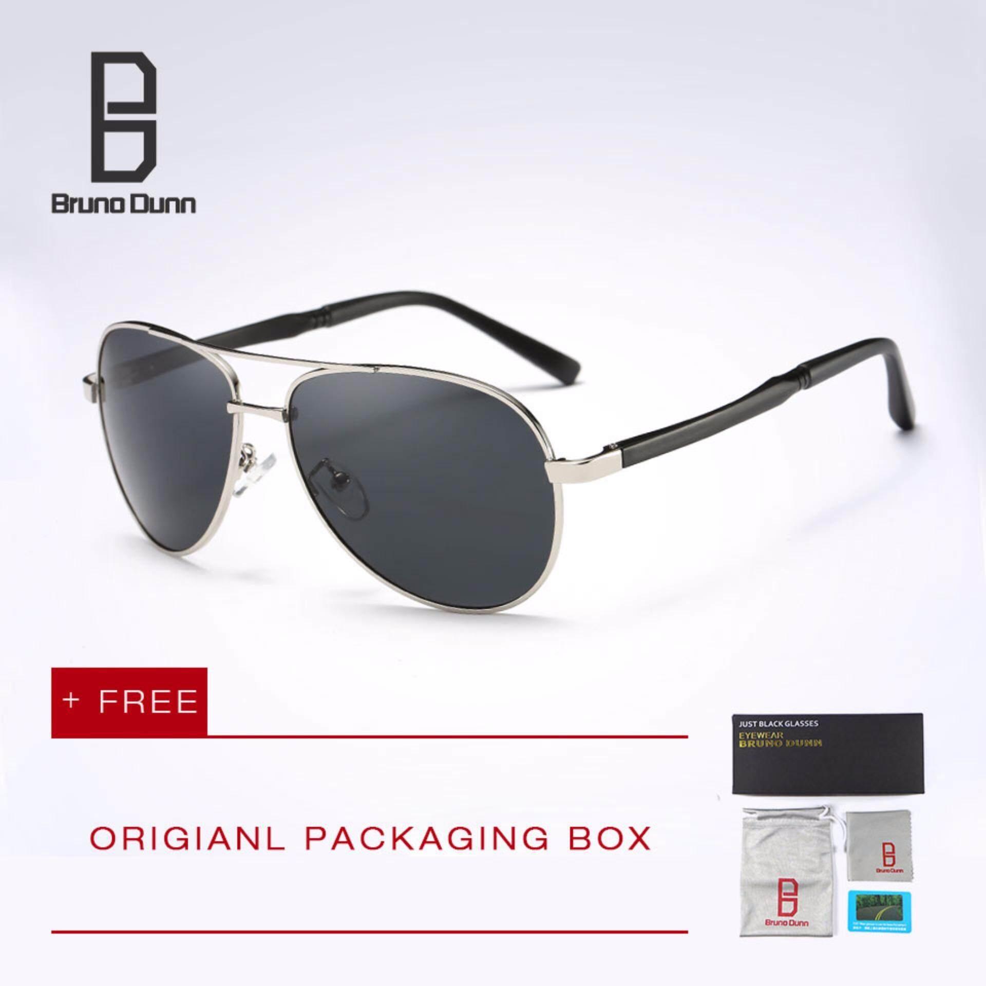Bruno Dunn Brand polarized sunglasses men original brand designer sunglases with box eyewear sun glasses for