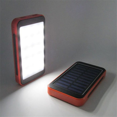 c3b38644e95 authentic 100000mAh Solar Panel Power Bank Waterproof Dual USB Charger  Large Capacity Portable Exter