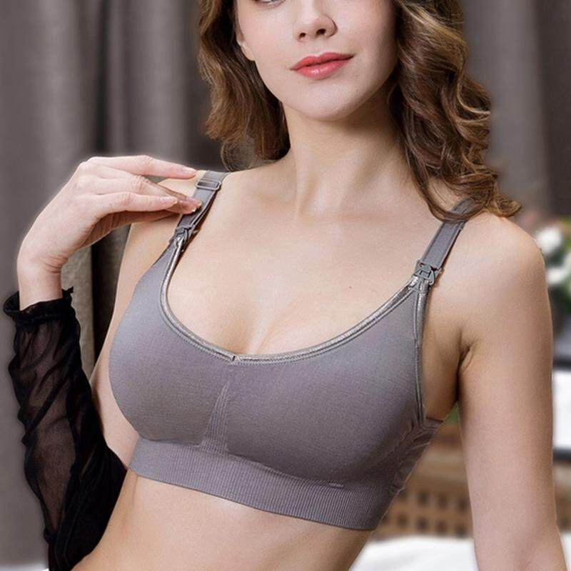 46e179bb76dbf Plus Size Nursing Bra for Pregnant Women Padded Wire Free Front Open Maternity  Bra Full Coverage
