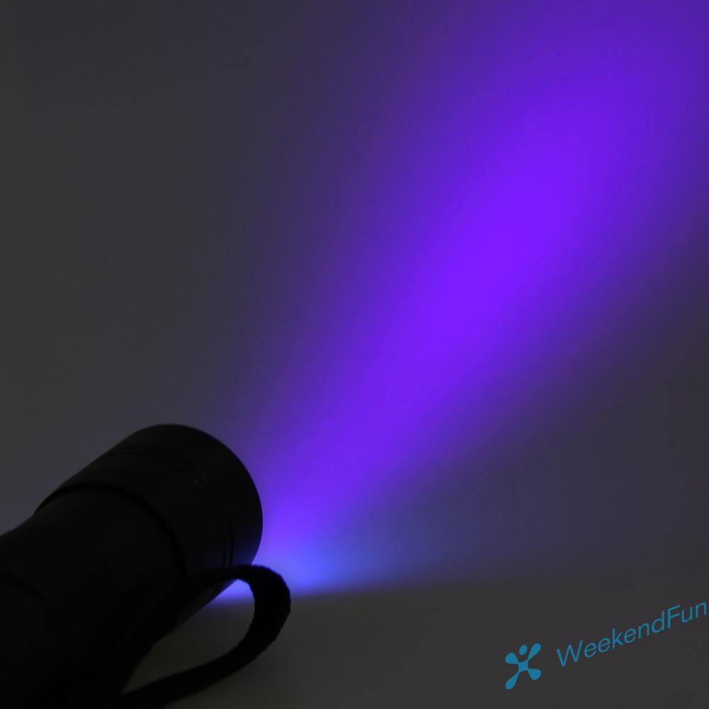 12 LED UV Torch Ultraviolet Flashlight 395nm Purple Light For UV Resin Crafts