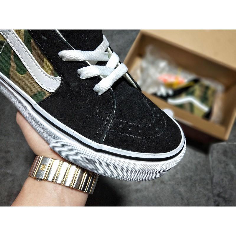 d386004c2c 日本專櫃2018Vans萬斯Sk8-Hi 秋季迷彩情侶滑板鞋ICC鋼印(
