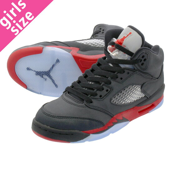03eb253d3ba NIKE AIR JORDAN 5 RETRO GS耐吉空氣喬丹5重新流行GS BLACK/