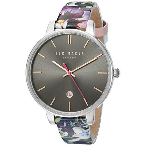 347b92322a3c5 TED BAKER- LADIES KATE STAINLESS STEEL GREY DIAL FLORAL STRAP WATCH - intl