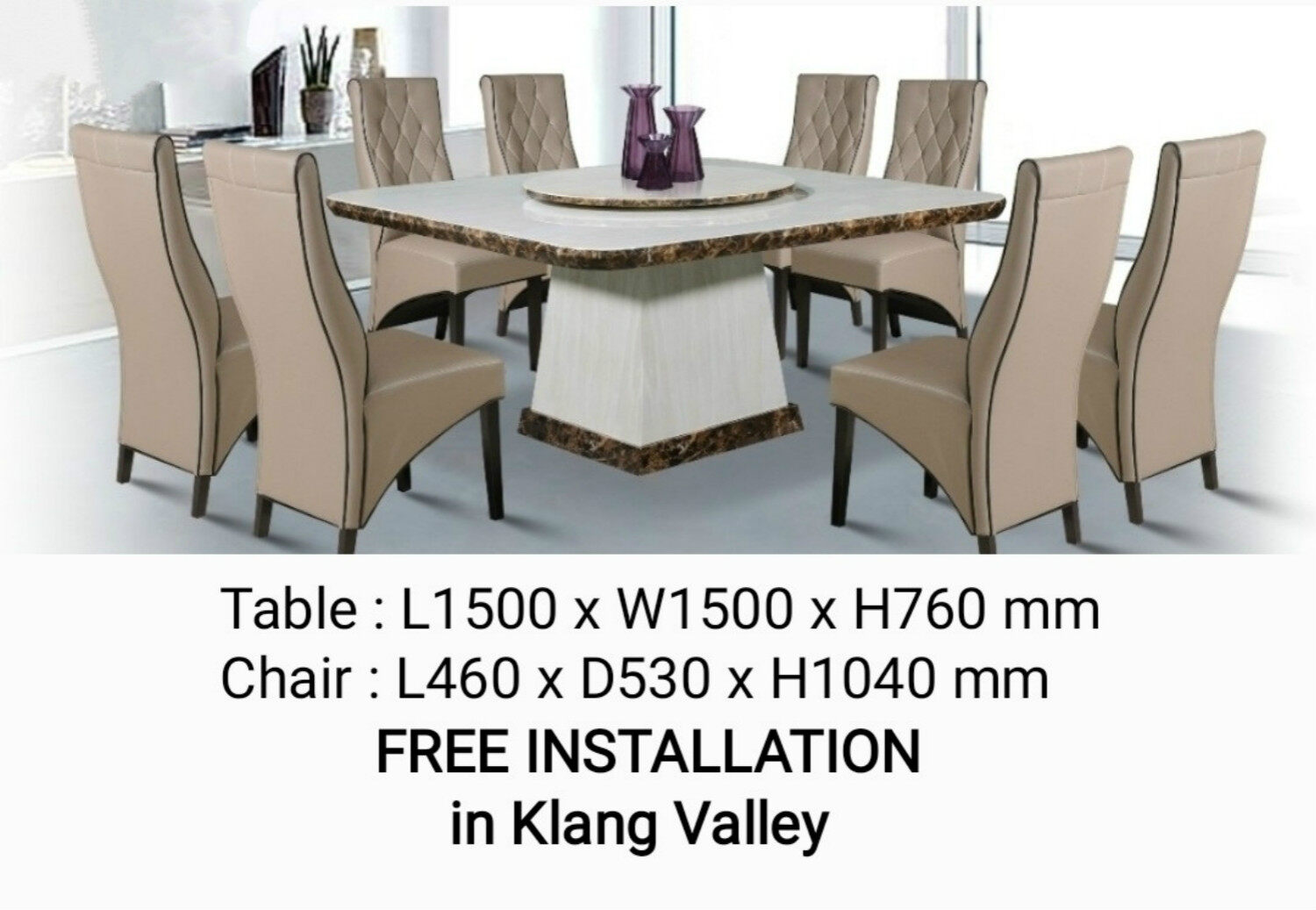 Marble Dining Table 8 Seater Price Promotion May 2021 Biggo Malaysia