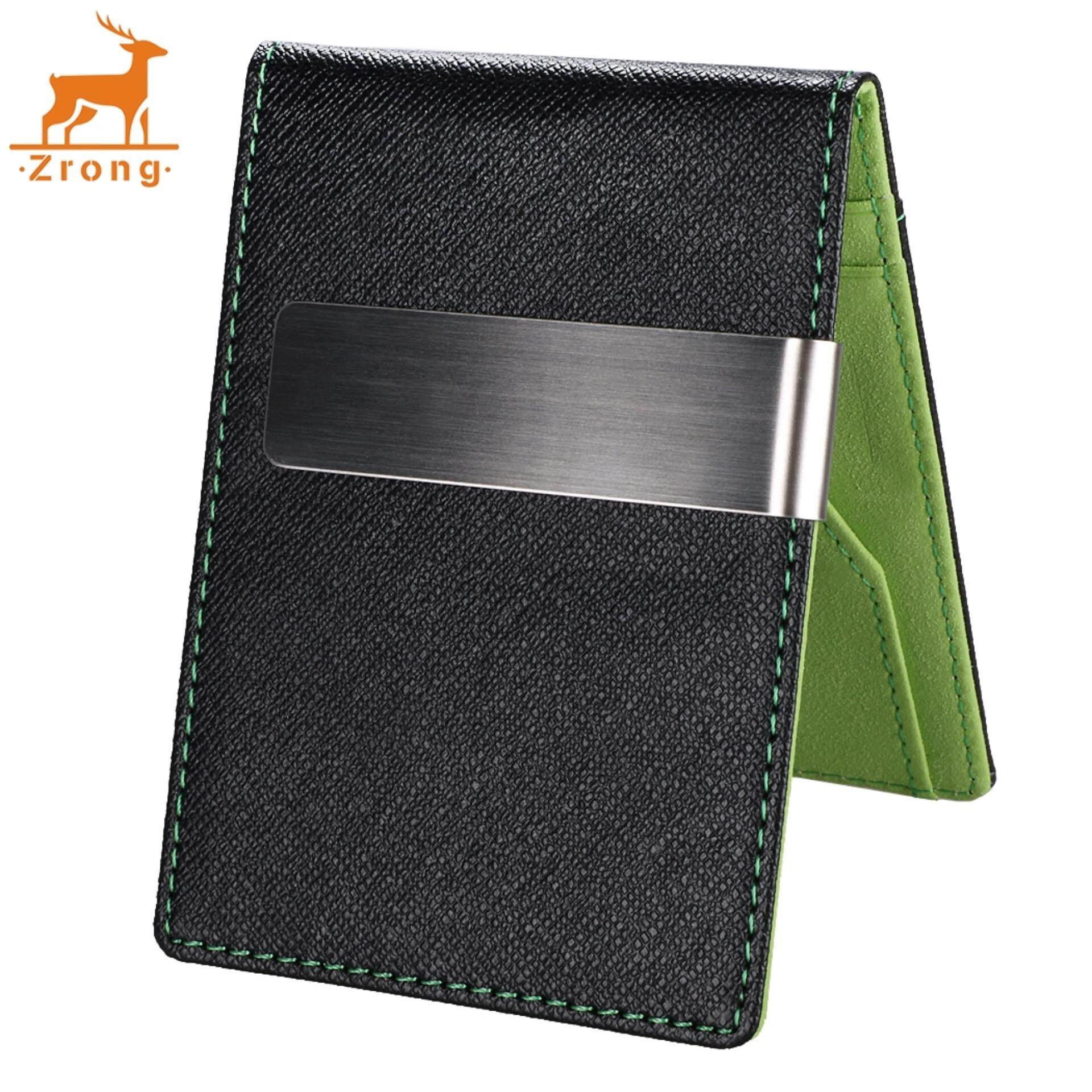 New Fashion Korean Style High Quality Men Mini Money Wallet With Clip (Green)
