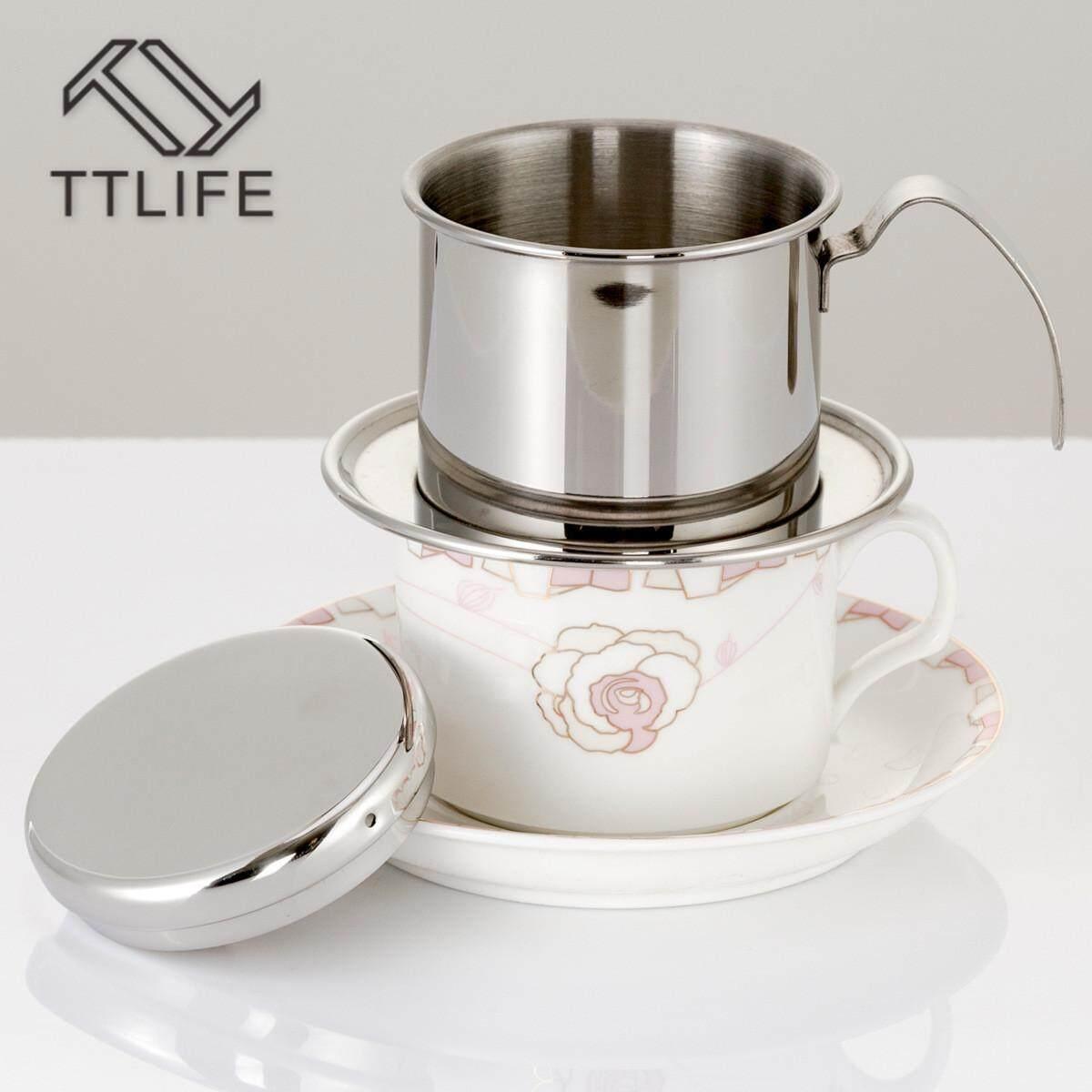 Drip Coffee Maker Biggo Iwaki Water Server 4 Cup Ttlife Pot Vietnamese Household Stainless Steel Brewing