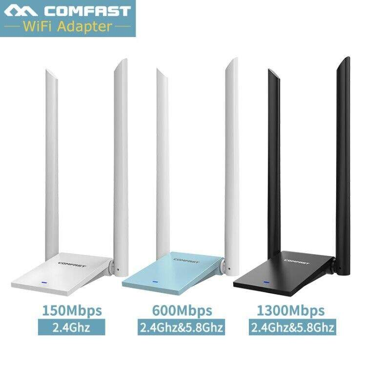 Comfast 2.4G 5G 600Mbps Wireless WiFi Free Driver long range receiver adapter