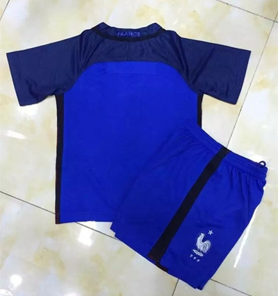5528a111e 16-17 Unisex Fashion France Team Home and Away Jersey Football Sport Suits  Short sleeves