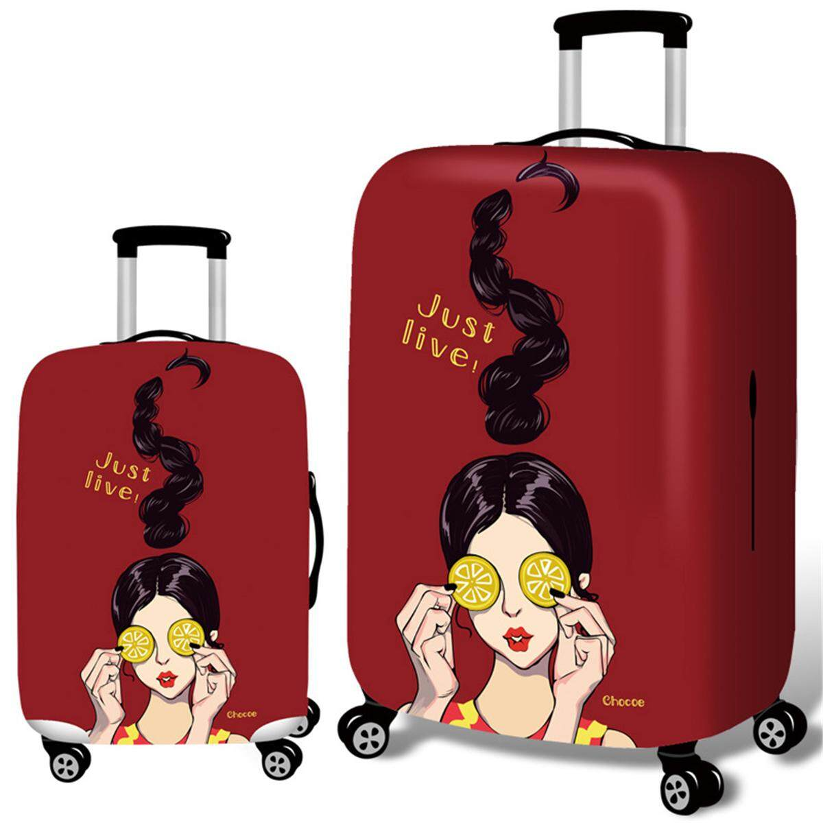 Cool Girl Travel Luggage Cover Protector Elastic Suitcase Bag  Scratch-resistant   M 438777f163