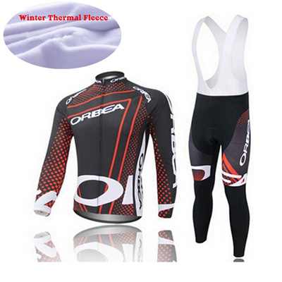 2015 orbea winter thermal fleece cycling long sleeve jersey ropa ciclismo  maillot orbea red winter cycling 630275369