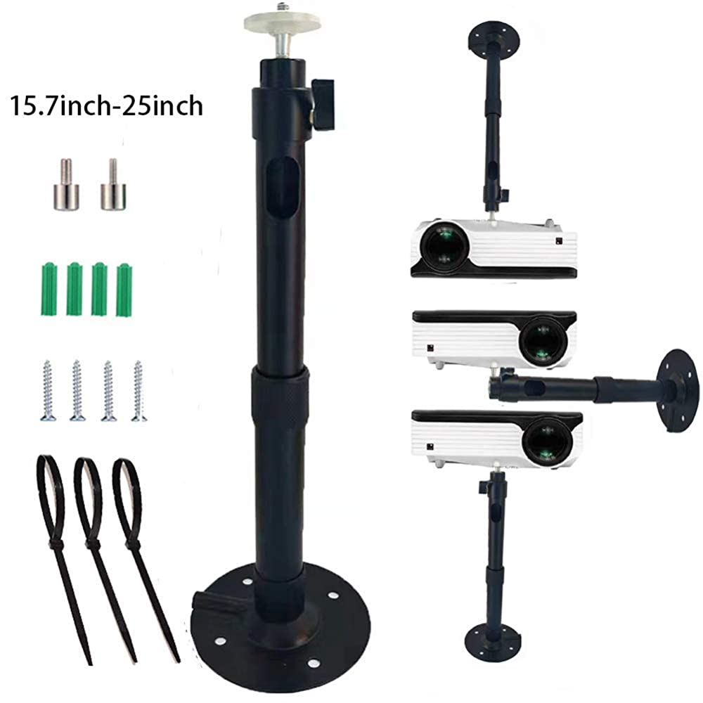Extendable Video Projector Wall Mount Bracket for Mini Projector Camera Wendry Universal Projector Ceiling Mount 100-200cm Adjustable Wall Projector Hanging Bracket