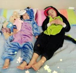 恐龍 皮卡丘 乳牛 貓頭鷹 兒童造型睡衣 冬保暖 法蘭絨 動物居家服 玩偶 生日 聖誕禮物 交換禮物 最新如廁版