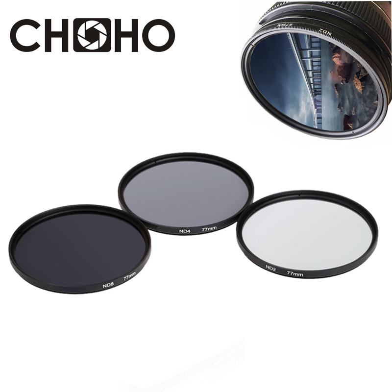 ND Filter Neutral Density ND2 ND4 ND8 Filtors 49MM 52MM 55MM 58MM 62MM 67MM 72MM 77MM