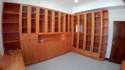 1加1系統家具 系統櫃 實木 書櫃 玻璃書櫃