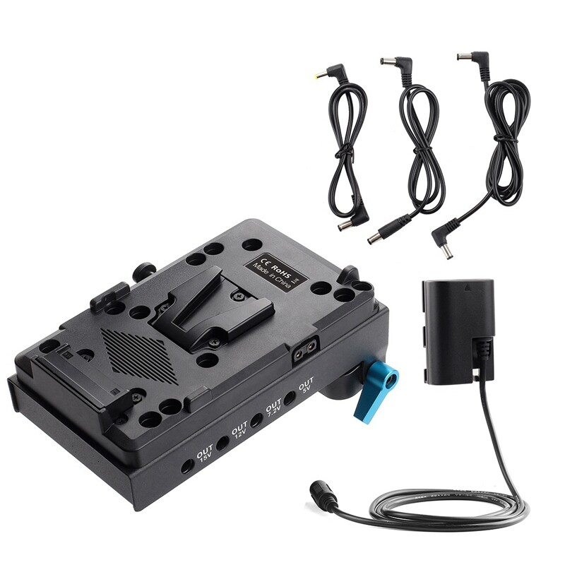 D-Tap to NP-F550 Dummy Battery Power Cable Adapter for Monitor Using 550/&970