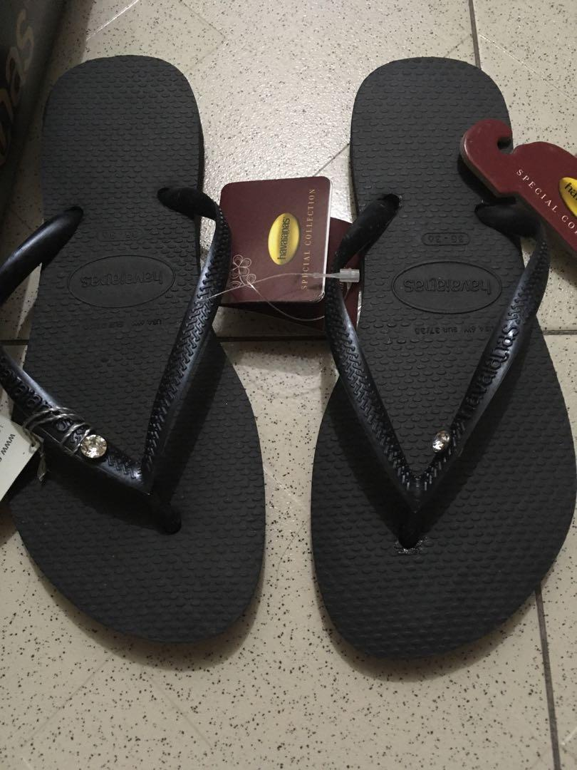 7c82da96d Havaianas limited edition crystal black slippers