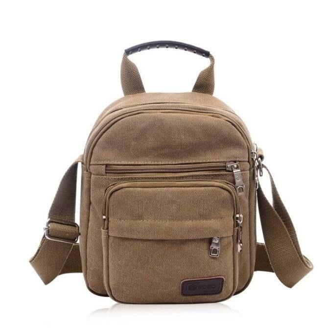 8bd2e4ae51 YSLMY Men Small Vintage Canvas Satchel School Military Shoulder Bag  Messenger 100% Cotton - Intl
