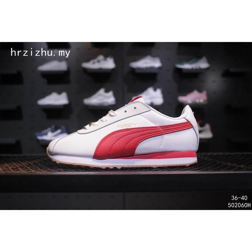 7a7887634b0 BTS x Puma Turin Comfortable Women s sports Leather Running Jogging shoes