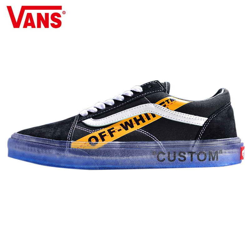 VANS CE Y62 Vans Old Skool X Off-White Classic Men and Womens Sneakers  canvas 196eee504704