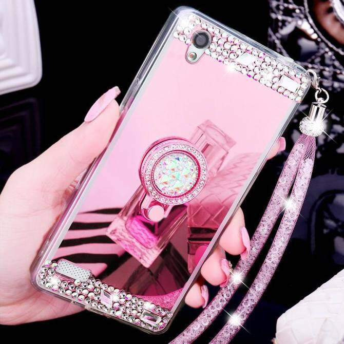 For Oppo A57 Mobile Phone Case Mirror Phone Casing Lady Phone Cover