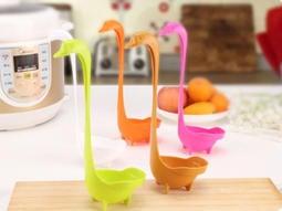 ☆160小舖☆【天鵝湯勺】直立天鵝造型湯勺 站立式湯匙 瀝水火鍋勺