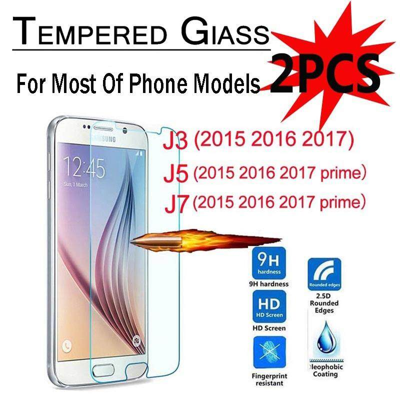 2PCS Tempered Glass Screen Protector For Samsung Galaxy J3 J5 J7 2016 2017 Prime Pro Note