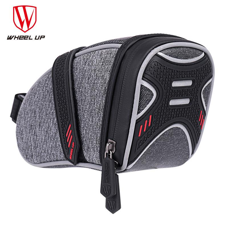 Wheel Up Waterproof Bicycle Saddle Bag With Light Hook