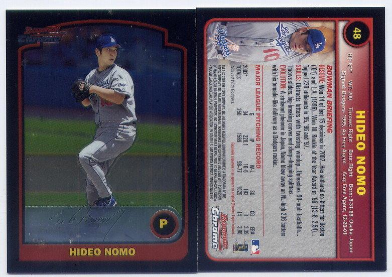 野茂英雄 Hideo Nomo 2003 Bowman Chrome #48