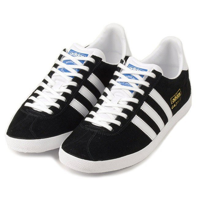 finest selection ff5bf 1ab3a 大腳板□ADIDAS ORIGINALS GAZELLE OG 燙金黑白百搭麂皮復古水原