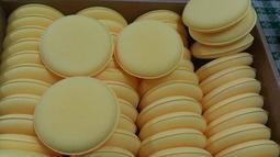 【小皮機油】黃色飛碟棉 (黃色上蠟棉) 海綿 上蠟海綿