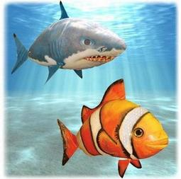 公司貨 紅外線加強改良版 鯊魚 小丑魚 air swimmers 外銷美國 飛天魚 遙控飛魚 空中飛魚( 鯊魚下標區)